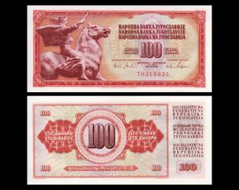Yugoslavia, P-080b, 100 dinara, 1965