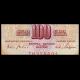 Yougoslavie, P-080b, 100 dinara, 1965