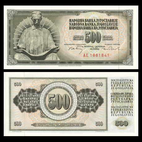 Yougoslavie, P-084b, 500 dinara, 1970