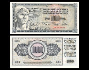 Yugoslavia, P-092b, 1 000 dinara, 1978, PresqueNeuf / A-UNC