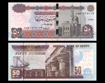 Egypte, P-066g, 50 pounds, 2016
