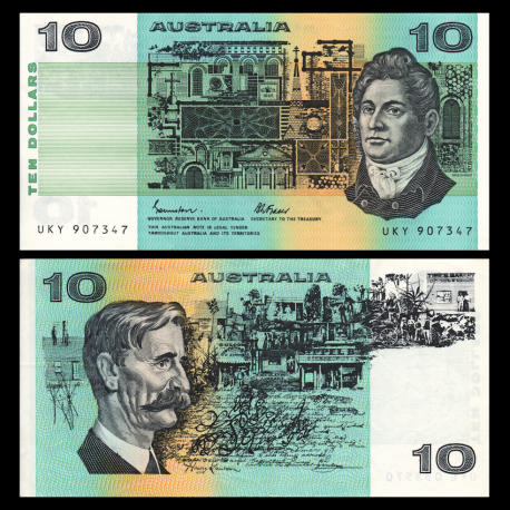 Australie, P-45e, 10 dollars, 1974-91, SUP / Extremely Fine