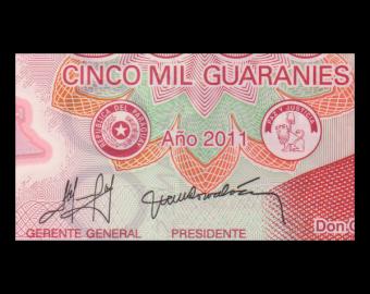 Paraguay, P-234a, 5000 guaranies, Polymer, 2011