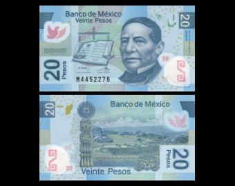 Mexique, P-122iP, 20 pesos, 2011, Polymère