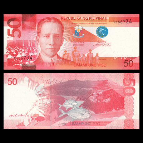 Philippines, P-207a, 50 piso, 2010