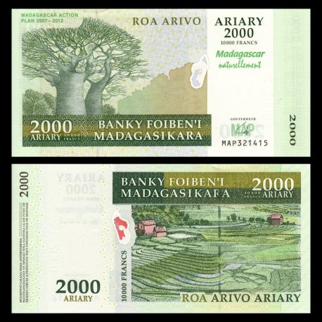 Madagascar, P-93, 2000 ariary, 2007
