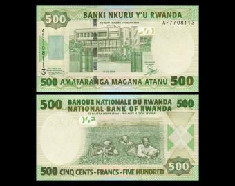 Rwanda, P-34, 500 francs, 2008