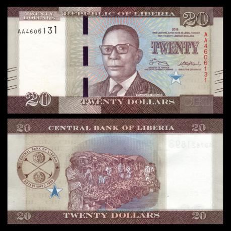 Liberia, P-33b, 20 dollars, 2017