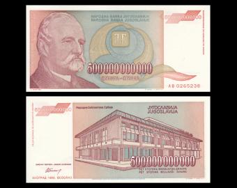 Yougoslavie, P-137, 500 000 000 000 dinara, 1993