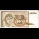 Yougoslavie, P-105, 100 dinara, 1990