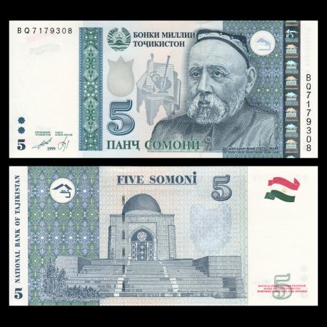Tadjikistan, P-23, 5 somoni, 1999 (2013)