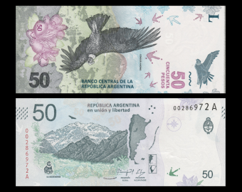 Argentina, P-363, 50 pesos, 2018
