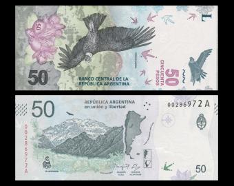 Argentine, P-363, 50 pesos, 2018