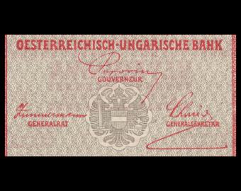 Autriche, P-50, 2 kronen, 1919, surchargé