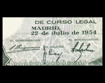 Spain, P-146, 5 pesetas, 1954