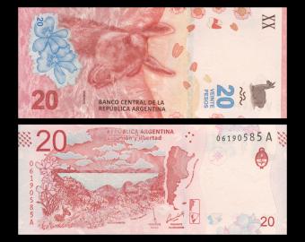Argentine, P-361, 20 pesos, 2017