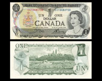 Canada, P-085c, 1 dollar, 1973, TTB / Very Fine