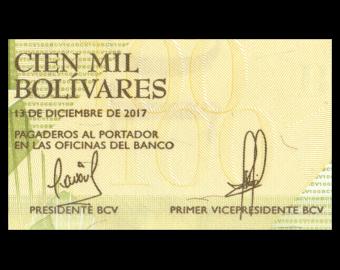Venezuela, P-100b, 100000 bolivares, 2017