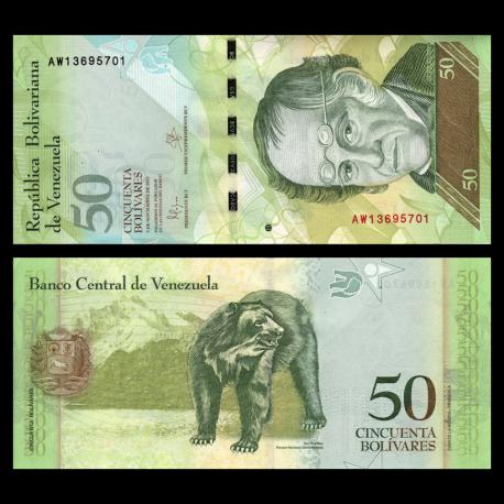Venezuela, P-092k, 50 bolivares, 2015