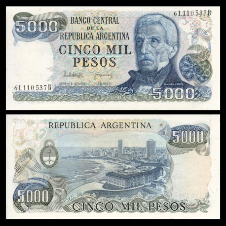 Argentine, P-305b2, 5000 pesos, 1977-83
