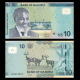Namibie, P-16a, 10 dollars, 2015