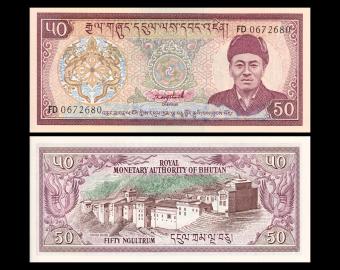 Bhoutan, P-17b, 50 ngultrum, 1992