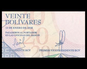 Venezuela, P-104a, 20 bolívares soberanos, 2018
