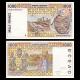 Côte d'Ivoire, P-111Ai, 1000 francs, 1999