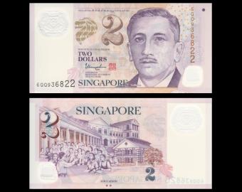 Singapore, P-46k, 2 dollars, Polymer, 2017