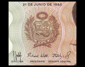 Peru, P-117c, 5000 soles de oro, 1985