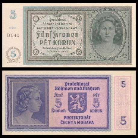 Bohême & Moravie, P-4, 5 kronen, 1940