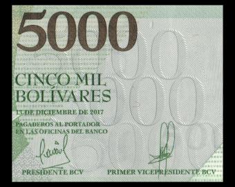 Venezuela, P-097c, 5000 bolivares, 2017