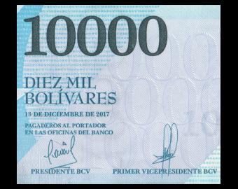 Venezuela, P-098b, 10000 bolivares, 2017