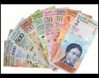 Venezuela, série 9 billets, 2007-2017