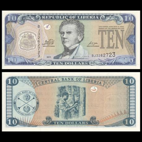 Liberia, P-27g, 10 dollars, 2011