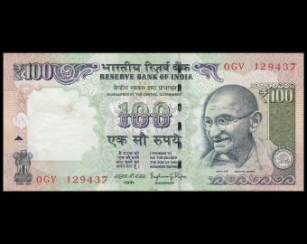 India, P-105n, 100 rupees, 2014, TB / Fine