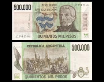 Argentine, P-309b, 500 000 pesos, 1980-83