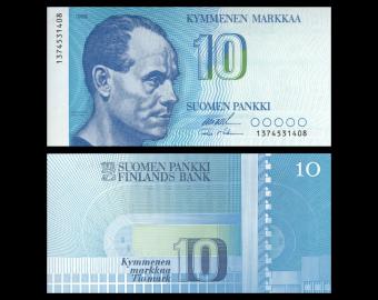 Finlande, P-113a34, 10 markkaa, 1986