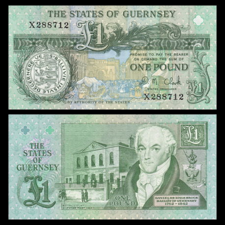 Guernesey, P-52c, 1 pound, 2014
