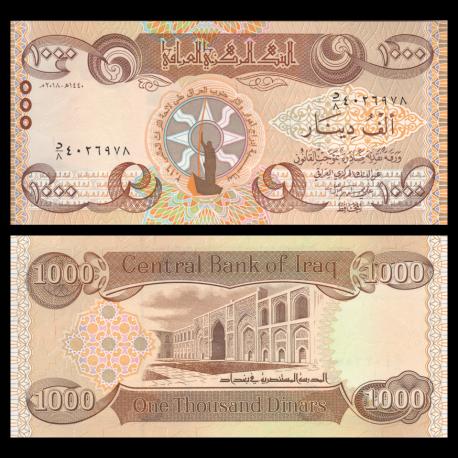 Irak, P-104, 1000 dinars, 2018
