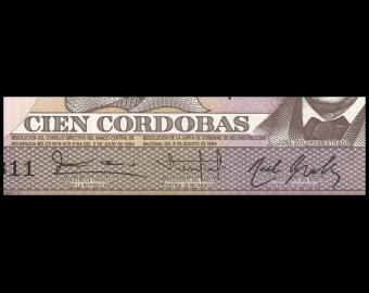 Nicaragua, P-141, 100 cordobas, R.1984
