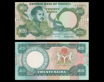 Nigeria, P-26k, 20 naira, 2006