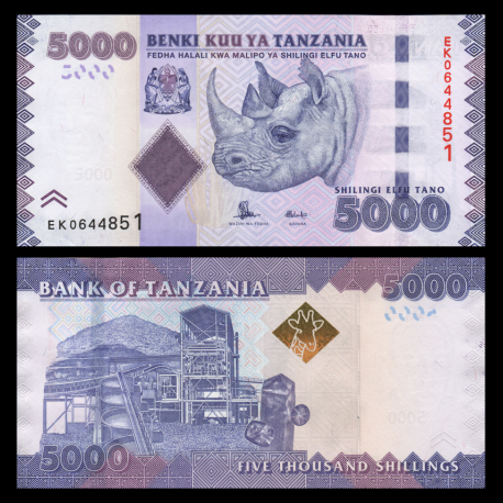 Tanzanie, P-43b, 5.000 shillings, 2015