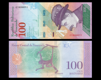 Venezuela, P-106a, 100 bolívares soberanos, 2018
