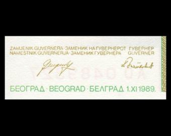 Yougoslavie, P-099, 1 000 000 dinara, 1989
