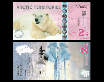 Arctic Territories, 2,5 polar dollars, 2013