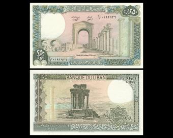 Liban, P-67e, 250 livres, 1988