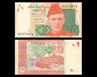 Pakistan, P-55l, 20 roupies, 2018