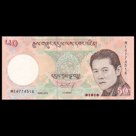 UNC 50 100 500 Ngultrum 2011 2013 2015 P-31b 32c 33b Bhutan 3 PCS SET
