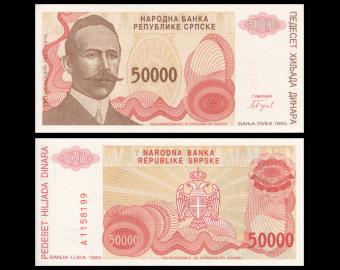 Bosnie-Herzégovine, P-153, 5000000 dinara, 1993